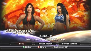 WWE Smackdown vs Raw 2009 Victoria vs Melina