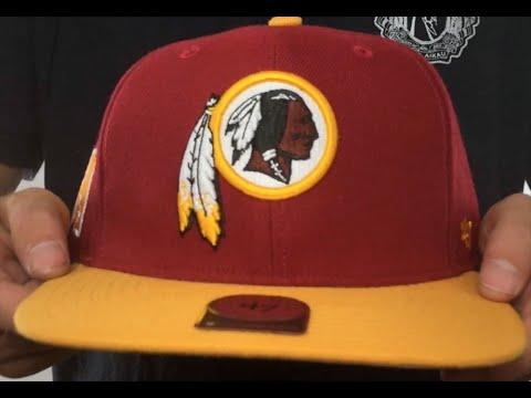bc4230c4d6d7c Redskins  SUPER-SHOT STRAPBACK  Burgundy-Gold Hat by Twins 47 Brand ...