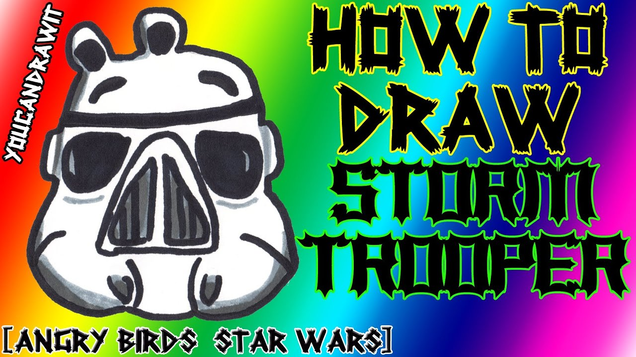 How To Draw Stormtrooper Pig From Angry Birds Star Wars