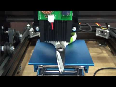 15W laser steel markings.
