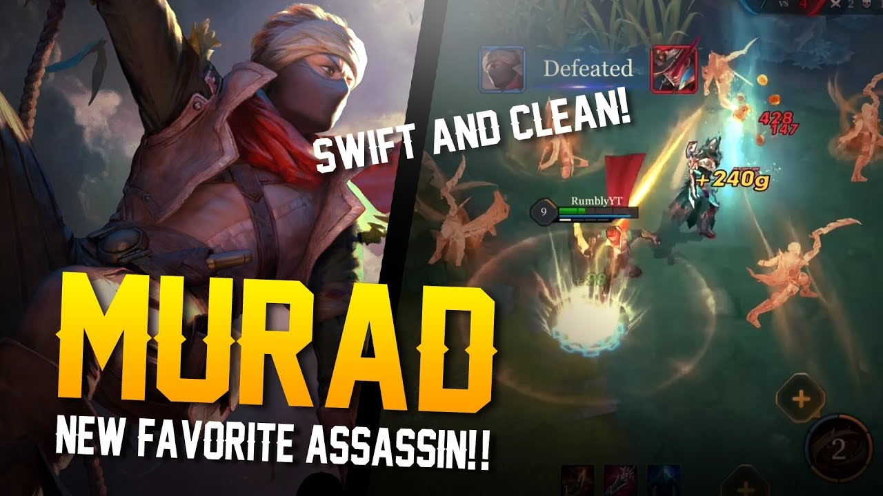 Arena Of Valor My New Assassin Of Choice Murad Gameplay