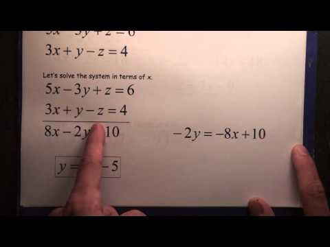 #102 Systems 2 Equations 3 Variables