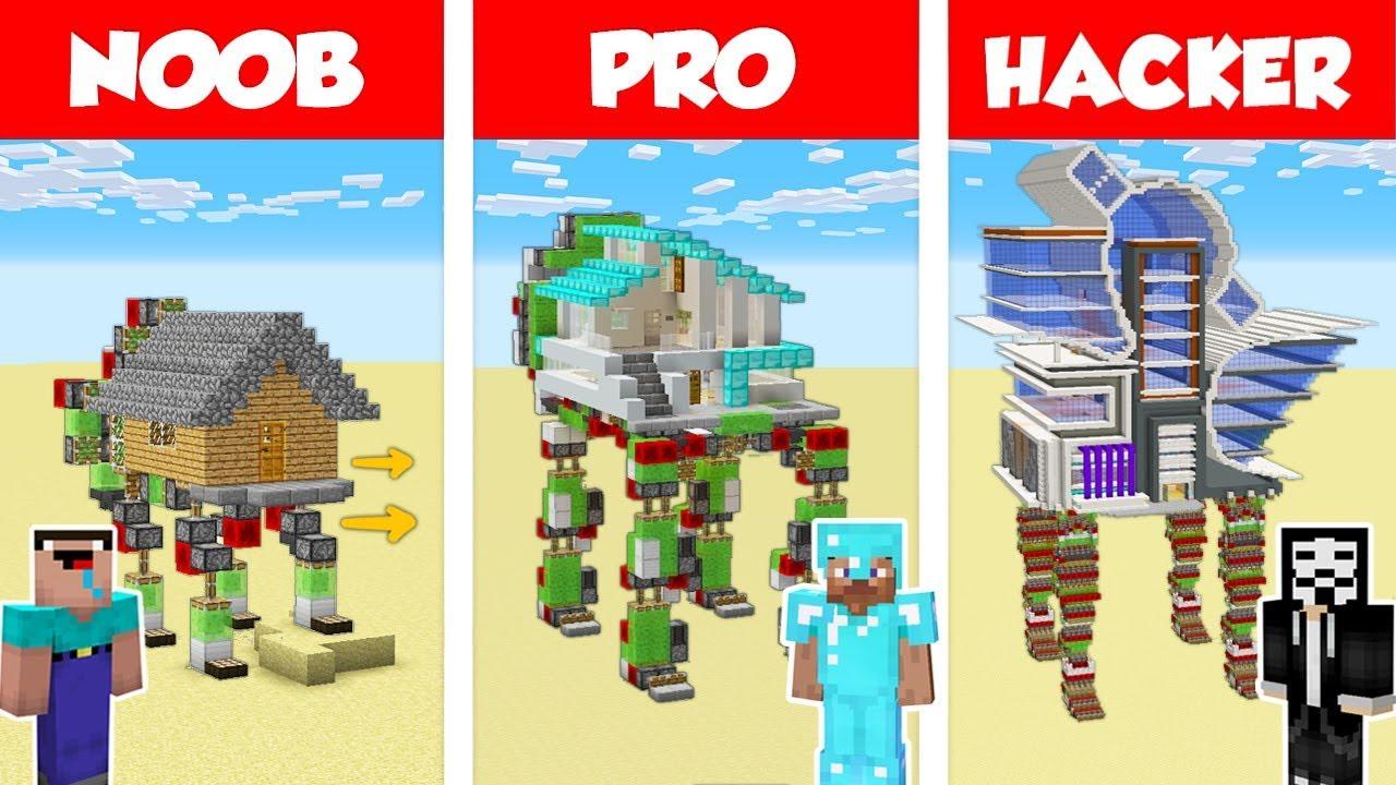Minecraft NOOB vs PRO: MODERN WALKING HOUSE CHALLENGE in Minecraft /  Animation