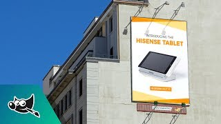 gimp tutorial billboard design mockup