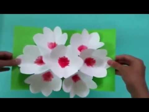 видео: 3Д открытка своими руками цветы на 8 марта