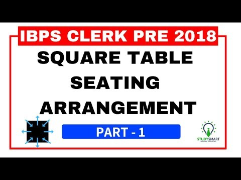 Square Seating Arrangement Reasoning Question for IBPS CLERK PRE 2018 Part 1