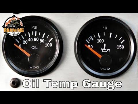 Engine Oil Temperature Gauge Installation - Defender - How to monitor engine oil temperatures