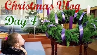 Drawing a Christmas picture Christmas Advent Wreath Lighting candles in church/VLOGMAS SUPER KIDS ND