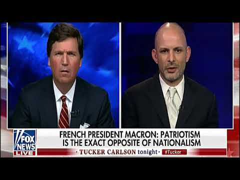 Tucker Carlson Macron Talks Like The United States Didn't Save France TWICE