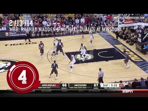 2013-14 Arkansas ESPN Sportscenter Top Ten Plays