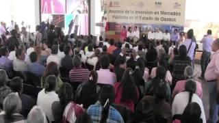 Anuncia @GabinoCue inversión de 207 MDP en infraestructura de mercados públicos de #Oaxaca