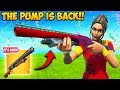 THE PUMP SHOTGUN IS FINALLY BACK!! - Fortnite Funny Fails and WTF Moments! #599