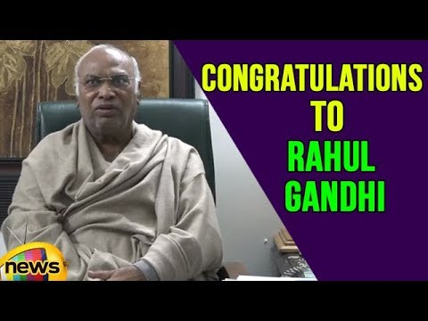 Mallikarjun Kharge Conveys His Congratulations to New Congress President Rahul Gandhi | Mango News
