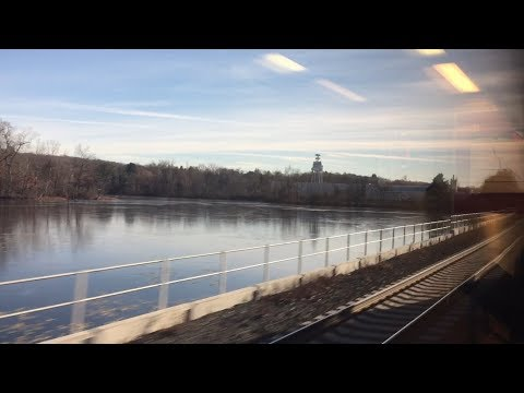 CTrail Hartford Line HD 60fps: Riding Train 4407 (Springfield to New Haven)