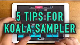 5 Tips for Koala Sampler