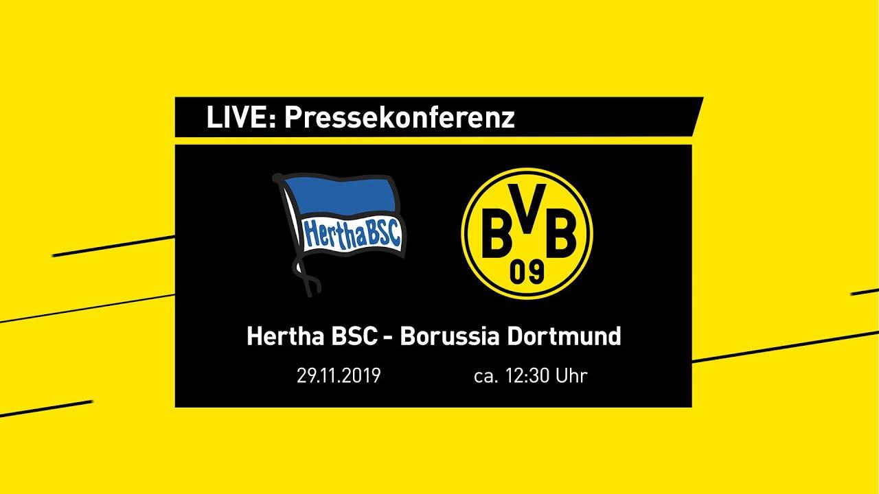 LIVE: PK mit Lucien Favre & Michael Zorc | Hertha BSC - BVB