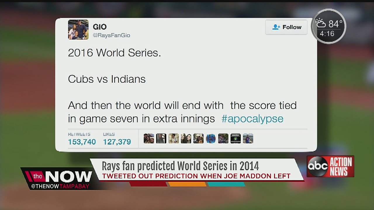 Tampa Bay Rays fan predicted World Series teams, extra