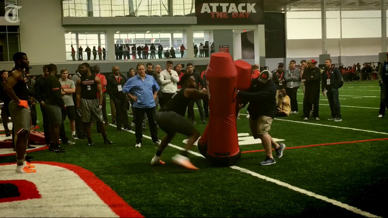 Belichick, Patricia lead UGA linebackers at pro day - YouTube