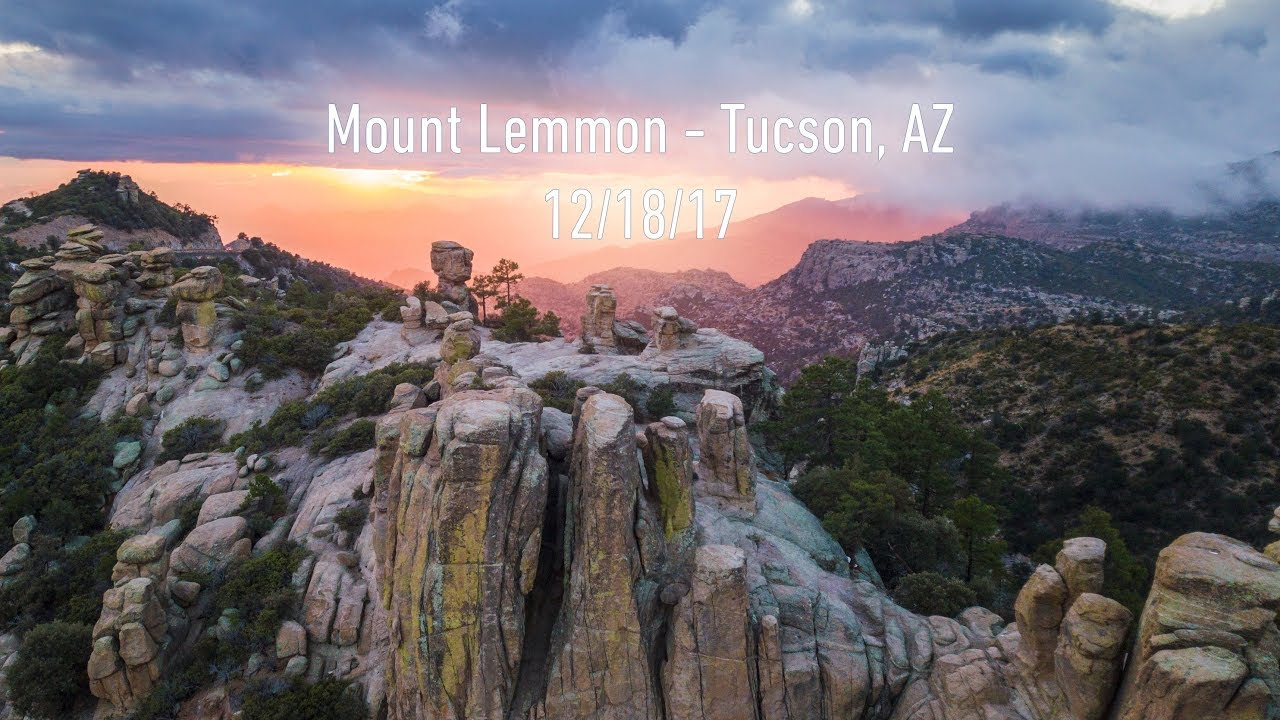 Mount Lemmon Tucson Arizona 12 18 2017 4k Aerial