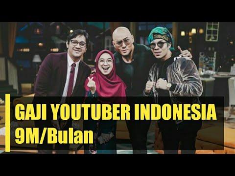 9 MILIAR SEBULAN | 10 Gaji Tertinggi Para YouTuber Subscriber Terbanyak Di Indonesia 2019