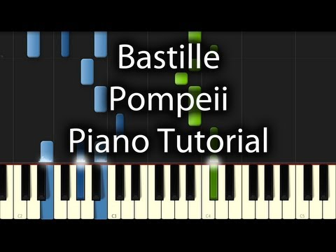 Bastille - Pompeii Tutorial (How To Play on Piano)