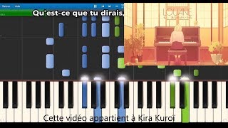 Louane - Si t'étais là - Karaoke / Piano synthesia tutorial (+ lyrics & Sheet music)
