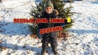 С первым днем ЗИМЫ!!/01.12.18/ в деревне/ конский навоз,теплицы, крыша...