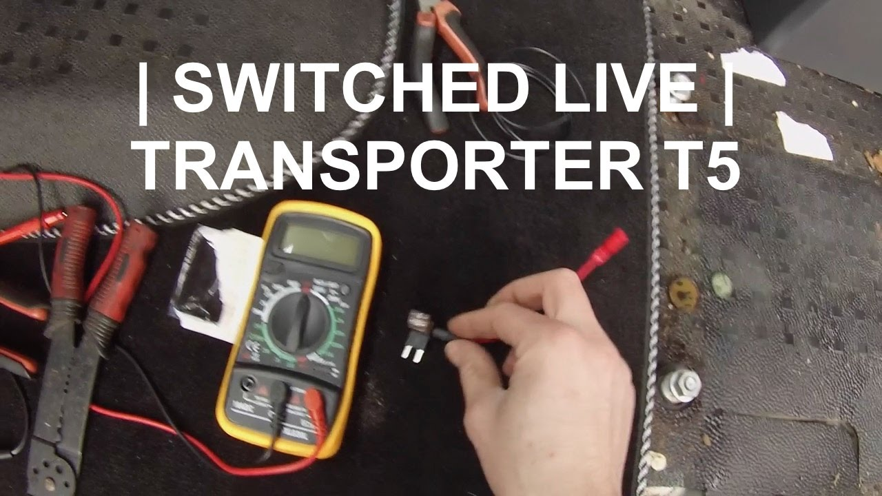 How To Fit A Switched Live To Your Aftermarket Cd Player Transporter T5 Canbus Youtube