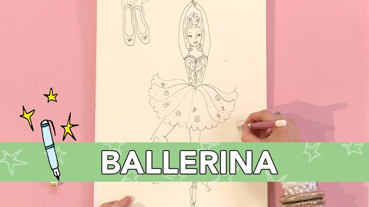 Nieuw Jill - DIY: Ballerina tekenen - YouTube DI-05