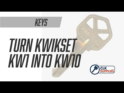 How to turn a Kwikset KW1 into a KW10 when needed!