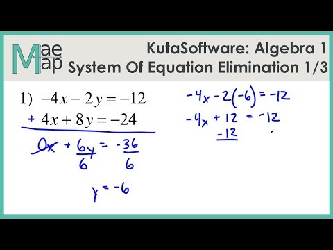 KutaSoftware: Algebra 1- System Of Equations Elimination ...