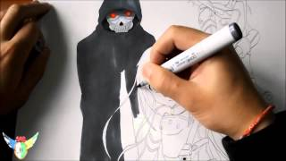Copic speed draw SAO 2 wallpaper ( special 1000 and 2000 subs )