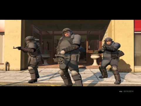 GTA 5 Миссия Ограбление в Палето (Грабим Банк с Миниганом)