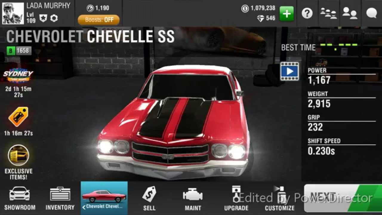 Racing Rivals Chevrolet Chevelle Ss Turbo Rating With Nos
