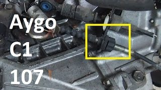 How to unlock the clutch cable adjustment nut  - Toyota Aygo, Peugeot 107, Citroen C1