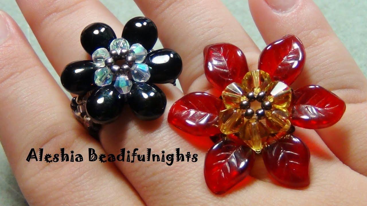 Briolette Flower Beaded Ring & Pendant Tutorial - YouTube