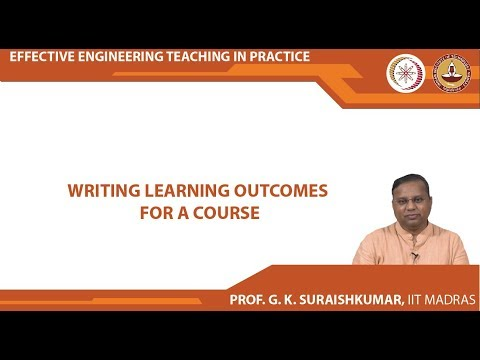 Lecture 05 - Writing Learning Outcomes for a Course