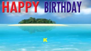 K  Card Tarjeta - Happy Birthday