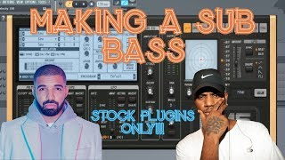 How To Make A Bryson Tiller/Drake Bass (Moog Bass) with STOCK PLUGINS ONLY in FL Studio