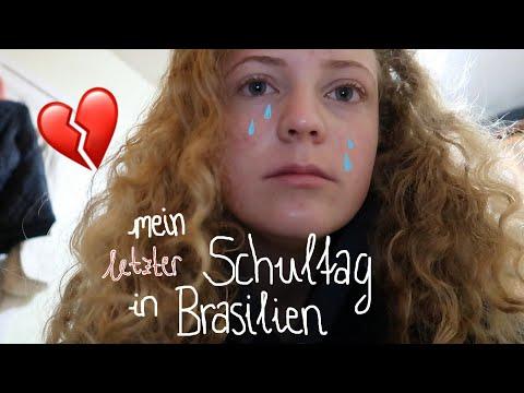 Vlog  mein LETZTER Schultag im Auslandsjahr😥 PYJAMA-PARTY Freunde🇧🇷 Leonie4ever