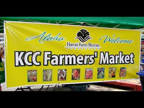 KCC FARMERS MARKET Video at DIAMOND HEAD, Honolulu, Hawaii-Waikiki Beach-Travel