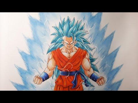 Drawing Goku Super Saiyan Blue 3