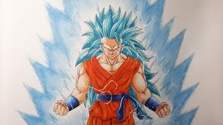 Drawing Goku Super Saiyan Blue 3