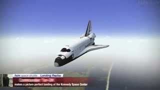 F-Sim Space Shuttle - Full approach perfect landing, score 1,038,826