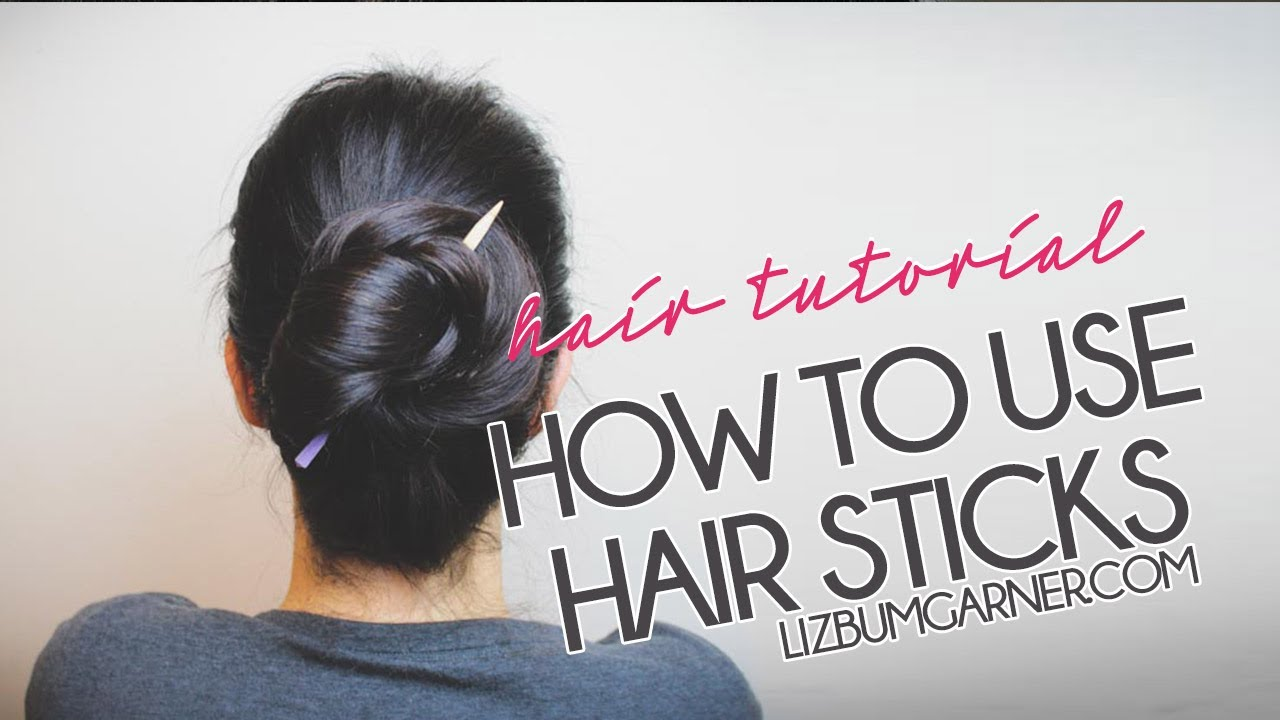 HAIR | How to use hair sticks | Queen Lila - YouTube
