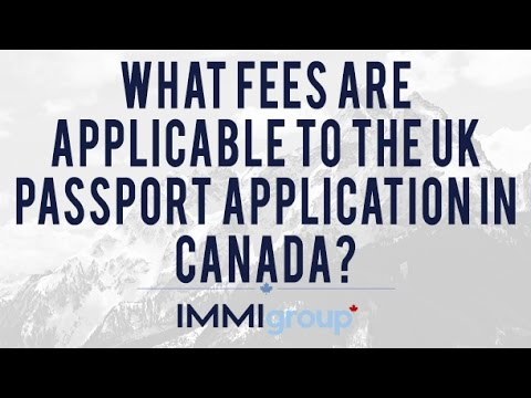 passport application fee uk