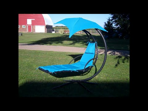 Hanging Chaise Lounge Chair, Swinging Hammock Customer Review   YouTube
