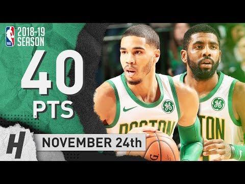 Kyrie Irving & Jayson Tatum COMBINED Highlights Celtics vs Mavericks 2018.11.24 - 40 Pts Total