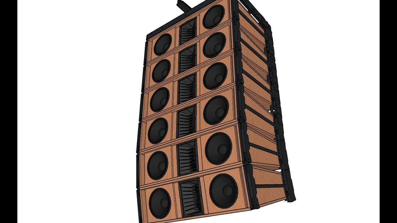 how to make line array boxes