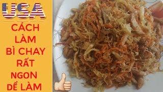 CÁCH LÀM BÌ CHAY RẤT NGON Dể LÀM,Nấu thức ăn chay ngon mổi ngày ,cu...